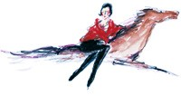 Eula's sketch of Diana Vreeland for a 2004 Tiffany brochure.