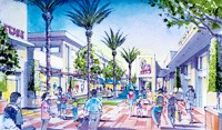 A rendering of how Biltmore Fashion Park will be redesigned.