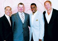 """Patrick Bousquet-Chavanne, William Lauder, Sean """"P. Diddy"""" Combs and John Demsey."""