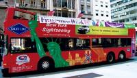 The Fragrance Week double-decker bus.