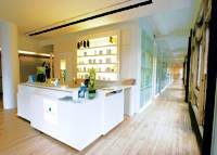 The reception area at New York Dermatology Group.