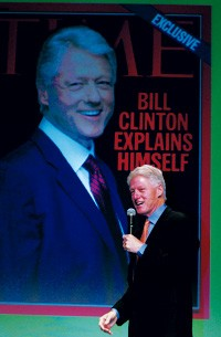 Bill Clinton speaks at the American Magazine Conference.