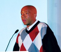 """""""The hip-hop culture is 20 years old. It has a great influence on America, and you guys haven't invested in it too much.""""— Russell Simmons, Phat Fashions"""