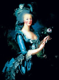 One of Elisabeth-Louise Vigée-Lebrun's portraits of Marie-Antoinette.