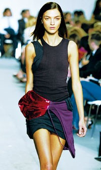 A look from Helmut Lang.