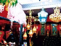The colorful antique lanterns at Hypnotique.