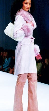 A look from St. John Knits' 2004 fall collection.