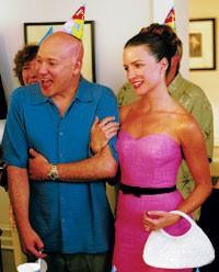 Kristin Davis in an Eric Way dress.