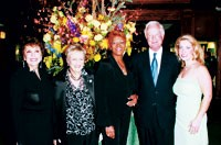 Linda Marshall, Annette Green, Dionne Warwick, Ed Kavanaugh and Jennifer Marshall.