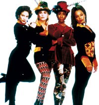 """Lopez, left, from her """"In Living Color"""" days in 1990."""