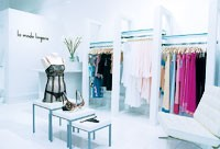 La Mode merchandises a variety of specialty undergarments in an airy, elegant setting.