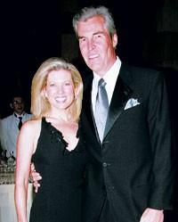 Terry Lundgren with fiancée Tina Stephan.