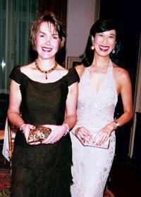 Susan Kropf and Andrea Jung