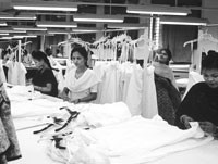 Indian apparel manufacturers report their order volume has risen since quotas were lifted.