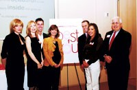From left: Dana Hallgren, Best of You contest winner; Annette Brien, winner; William Wackermann, vice president/publisher, Glamour; Cindi Leive, editor in chief, Glamour; Bill Boraczek, senior vice president of marketing, Sally Hansen; Jennifer...
