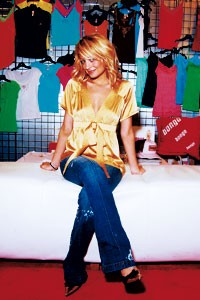 Nicole Richie, spokeswoman for Bongo, in Bongo jeans and a Proenza Schouler top.