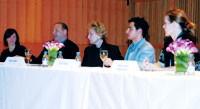 Panelists Lynn Tesoro, Reed Krakoff, Dawn Mello, Zac Posen and Mary Alice Stephenson.