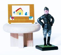 """""""Mussolini's Art"""" from Jim Riswold's """"Göring's Lunch"""" show."""