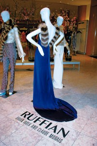 The Ruffian look, front and center, on the third floor of Saks Fifth Avenue.