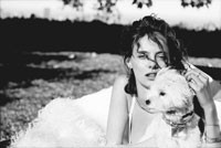 Sushi posing with Bijou Phillips in a shot by Peter Lindbergh.