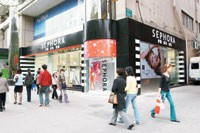 Sephora's Shanghai store, the retailer's first in China.