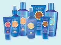 Guinot's Nucleic Defense sun care line.