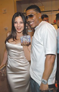 Fran Drescher, Nelly and the $50,000 evening clutch.