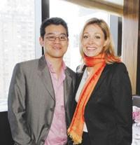Peter Som and Nadja Swarovski