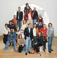 """Tommy Hilfiger with the cast from """"The Cut."""""""