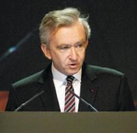 LVMH chairman Bernard Arnault was bullish for the year.
