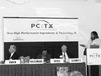 A panel of skin care experts at PCITX.