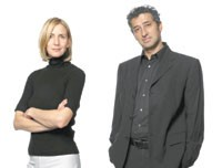 Hani Rashid with his wife and partner, Lise-Anne Couture.