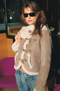 A shearling jacket from Hilary Radley.
