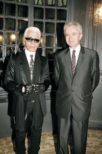 Karl Lagerfeld and Bernard Arnault