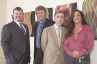 William Lauder, Vittorio Missoni, Patrick Bousquet-Chavanne and Angela Missoni.