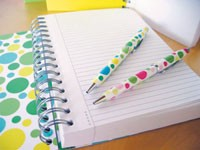 Rafe Totengco's pens and notebook for A.T. Cross.