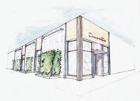 A rendering of Oscar de la Renta's Manhasset store.