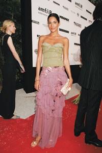 Astrid Munoz in Christian Dior.