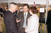 Rogers, Ark., Mayor Steve Womack with Lee and Linda Scott at a lifestyle mall groundbreaking.