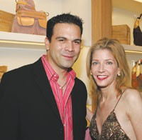 Ricardo Chavira and Candace Bushnell at the Ghurka opening.