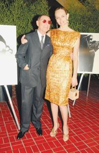 James Galanos and Amber Valletta.