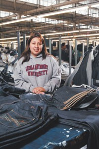 Rocio Mujica, an executive at Jeans of America.