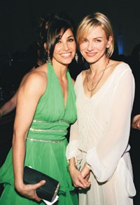 Gina Gershon and Naomi Watts at Fisher Stevens' roast.