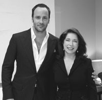 Tom Ford and Paula S. Wallace, president of the Savannah College of Art and Design.