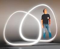 """Yves Behar standing inside the """"Inner Light."""""""
