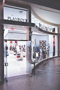 The first Playboy store in the U.S., in Las Vegas.