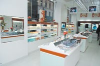Interior of Missha's New York store.