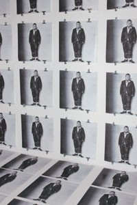 Barneys' stark Alber Elbaz window showcases an Irving Penn photograph of the Lanvin designer.