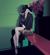 Uma Thurman's sultry look in Louis Vuitton's fall campaign.