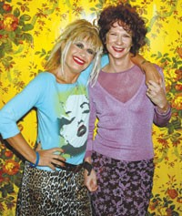 Betsey Johnson and her business partner, Chantal Bacon.
